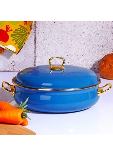 Kitchen World Kitchen World Navy Blue-109 26 Cm Emaye Karnıyarık Tenceresi Renkli